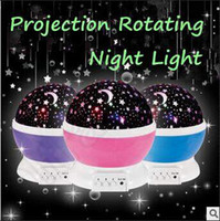 Wholesale 3 Colors Night Light Projector Star Master Romantic Rotating Spin Lamp Kids Sleep Lighting Sky USB Lamp LED Projection Lamp CCA5310