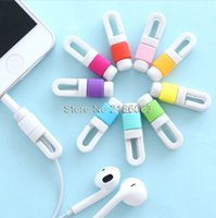 Wholesale 2000pcs USB Cable Data Line Earphone Line Protector Cover Saver Liberator For iPhone Links Headphone Cord with retail package