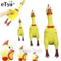 Wholesale Small Size Yellow mini Rubber Screaming Chicken Pet Dog love Toy Squeak Squeaker Chew Gift CM For Christmas free DHL