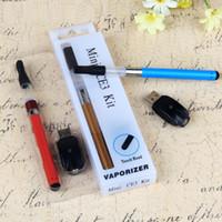 Wholesale CE3 blister pack vape kit CBD BUD touch vaporizer starter kit O pen tank mini ce3 atomizer oil cartridge with battery mah