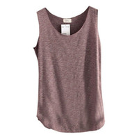 bamboo tee shirts wholesale - Womens U Neck Beach Vest Summer Loose Bamboo Cotton Tank T Shirt Tops Tee Hot Sale