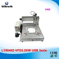 Wholesale LY CNC Z VFD2 KW USB axis mini CNC router price assembled KW spindle ship to Russia free tax