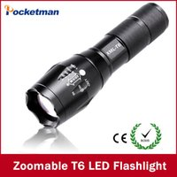Wholesale E17 CREE XM L T6 Lumens cree led Torch Zoomable cree LED Flashlight Torch light For xAAA or x18650