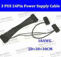 Power Cable Desktop  PCI-E express Power Cable ATX 24Pin 20+4Pin Triple 3 PSU Power Supply Cable CORD 18AWG Wire 20cm For BTC Miner Machine