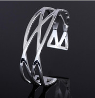 Wholesale High quality silver Plated Bangle Women Fasion Fine Jewelry Elegant Bangles by DHL Free