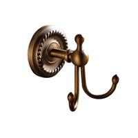 antique brass coat hooks - new designed Practical hook Bathroom Accessories European Antique Bronze Robe Hook Clothes Hook Coat Hook Bathroom Products