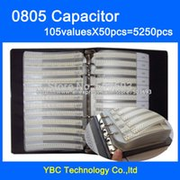 Wholesale SMD Capacitor Sample Book valuesX50pcs PF UF Capacitor Assortment Kit Pack