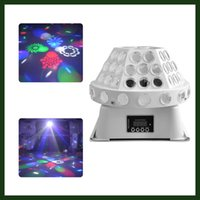 bar spotlights - 24W Mini LED Stage Light Spotlight dj set gobo Stage light projector for Christmas Dance home party bar event