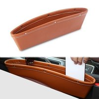 auto acces - nterior Accessories Stowing Tidying X Leather Catch Catcher Storage Organizer Box bins Caddy Car Seat Slit Pocket Car Styling Auto Acces