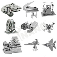 assembly modelling - Fancy D Metal Laser Cut Assembly Model D Metallic Nano Puzzle Toys Star Wars Musical Instrument D Building Puzzle Christmas Gifts M15