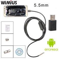automotive borescope - Wimius mm Lens Android USB Mini Camera Inspection Endoscope LED Waterproof Borescope Tube M M M cable Portable Automotive