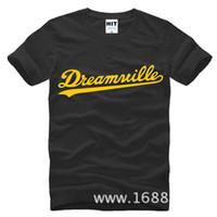 Wholesale 2017 New Fashion Dreamville Mens T Shirt Tshirt Fashion Tshirt For Men Short Sleeve Pure Cotton T shirt Tee