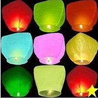 Wholesale High Quality Eco Friendly Flying Lantern Sky Lante Fire Retardant Chinese Kongming Lanterns Sky Light Wish Lantern for Event Ceremony