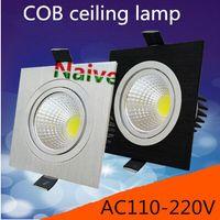 Wholesale High Power Aluminum Adjustable Ceiling Light AC110V V W W W Square Corn Light LED Ceiling Light CE ROHS