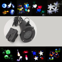 Wholesale led wall decoration laser light LED RGB colour pattern card change lamp Projector Showers led laser light for holiday