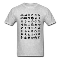 backpacking t shirts - Travel Icon T Shirt Summer Traveller Backpacking Global World Tee Iconspeak New T Shirts Unisex Funny Tops Tee Shirt For Men
