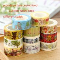 Wholesale custom made cartoon washi tape customized creative decoration customization Waterproof printing logo DIY Scrapbooking Sticker