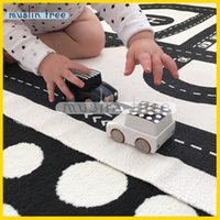 Wholesale Muslin tree Cartoon cotton Safety and environmental protection Children crawling mat