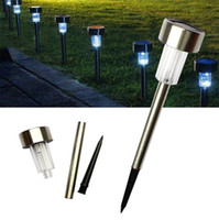 Wholesale Outdoor Stainless Steel LED Solar Power Lamp Garden Lawn Path Lights