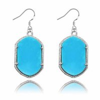 Wholesale Geometric Kendra Scott Style Earrings Glittery Acrylic Stone Chandelier Dangles Earrings For Women Silver Gold Plated Earrings