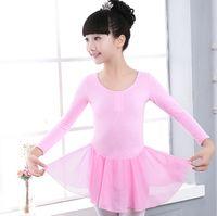 Wholesale Girls Dance Costume cotton long sleeved clothing for children autumn children body dance costume Ballet Leotard