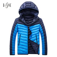 Wholesale Fashion Feather Jacket Men Ultralight Down Cotton Jacket Outdoors Winter Parka Duck Cotton Down Jacket Hooded Ultra Light Coat