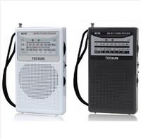 bathroom r - Retail TECSUN R R218 FM AM TV Sound Portable Pocket ssb radio sw Receiver Built In Speaker bathroom radio
