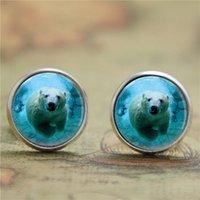 arctic ocean - 10pairs Polar Bear earring Bear Jewelry Arctic Ocean Animals Nature Art earring Bear print glass earring