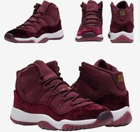 Wholesale Velvet Heiress Maroon Retro Basketball Shoes for men women kids us5 s athletic shoes cheap mens womens sneakers fashion man shoes