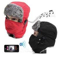 Wholesale Outdoor Sport Unisex Winter Thicken Warm Beanie Hat Wireless Bluetooth V3 Headset Smart Soft Cap
