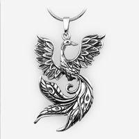 ancient mythology - 10pcs Norse Mythology Jewelry Phoenix Pendant Necklace Ancient Fire Bird Necklace Totem Jewelry CT184