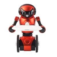 achat en gros de danse ours musique-WLtoys F1 léger 2,4 G Intelligent Balance G-Sensor Robot RC avec la musique de danse Walk Bear Hold Mode Enfants Jouets