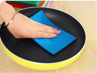 Wholesale 10Pcs Set Color Scouring Pad Dish Cloth Clean Cloth to Wipe Cloth Random color cleaning tools cm