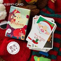 Wholesale pack Today is Christmas Day Luminous Mini Lomo Card Greeting Card Postcard Birthday Gift Card Set Message Craft Card