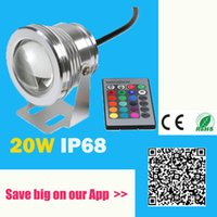 Wholesale W V Led RGB Underwater Spot Light Waterproof IP68 Fountain Pool Lamp Colorful Change With IR Remote piscina Outdoor Light