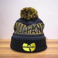 Wholesale WUTANG Hip hop dance knit cap cap cap mens fashion warm winter hat