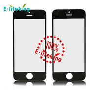 100piece / lots Écran de verre avant avec OCA adhensive + numériseur de panneau de touche pour l'iPhone 5 5G 5SRepair pièce de rechange écran Lcd écran