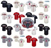 Men atlanta s - 2017 Inaugural SunTrust Park Commemorative Patch Dansby Swanson baseball Jersey men Atlanta Braves Flexbase Collection stitched S XL
