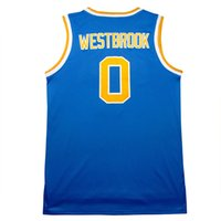 Wholesale UCLA Russell Westbrook basketball jerseys Blue White Men Russell Westbrook Embroidery Logos jersey stitched S XXL