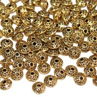 Wholesale 200 Pieces mm Antique Spacer Beads European Style Beads for Jewelry Making Golden
