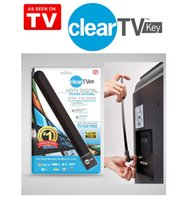 Wholesale HOT Clear Tv key HDTV digital indoor antenna sleek slim design hidden behind TV Get broadcast tv for free