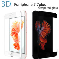 Wholesale For iphone D curved edge full cover tempered glass front screen protector protective on the for iphone s plus