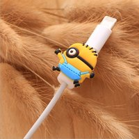 Wholesale For iPhone D Cartoon Charging Charger Cable Protector Anti break Cord Saver Sleeve Cable Winder DHL