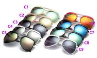 Wholesale 2017 New Arrival UV400 Hot Sale Designer Pop Club Fashion Sunglasses Men Sun Glasses Women Green gray brown Black Mercury lens New