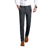Wholesale IYIJI High grade Brand New Summer Men Pants high quality cotton linen casual skinny Trousers men s fashion Pants