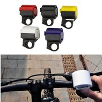 Wholesale Ultra loud MTB Road Bicycle Bike Electronic Bell Horn Cycling Hooter Siren Accessory Purple Yellow Black Red White