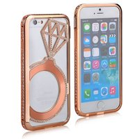 bags aluminum battery - New Aluminum Case For iPhone S S Luxury Phone Bags Bling Starry Rhinestone Plastic Cover For iPhone Plus S Plus