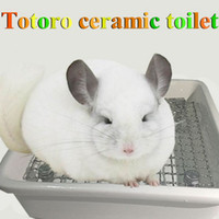 Wholesale Easy To Wash Ceramics Pet Toilet For Totoro Cavia Cobaya Rabbit Hamster Pet Accessories Anti Bite Pet Suppliers