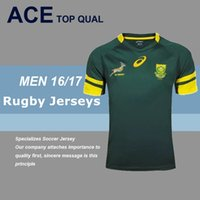 africa cup - DHL world cup South Africa rugby jerseys Best Quality green Rugby Shirt from S XXL