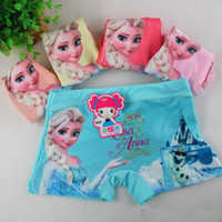 Wholesale Frozen Anna Elsa cartoon children boxer underwear baby girls cotton pants for kids pants Briefs Panties underpants T
